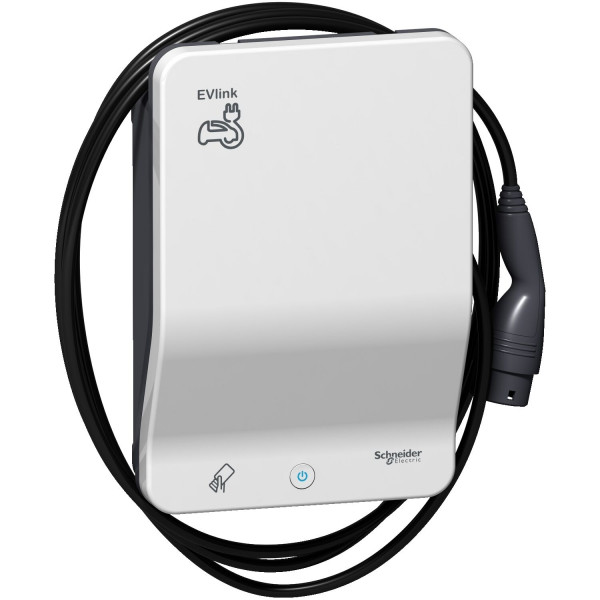 Schneider Electric EVlink RFID G4 Smart Ladestation 22kW inkl. 4,5m Typ 2 Ladekabel - EVB1A22PCRI